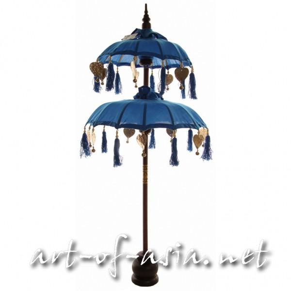 Bild 2 - Bali-Dekoschirm 2-fach, Azur Blue / gold