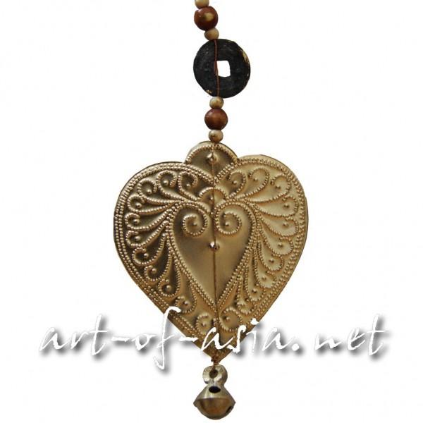 Bild 2 - Balifahnen-Anhänger Herz, gold