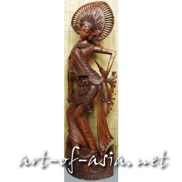 Bild 2 - Balinesische Tänzerin 'Janger', 180cm, Suar-Holz