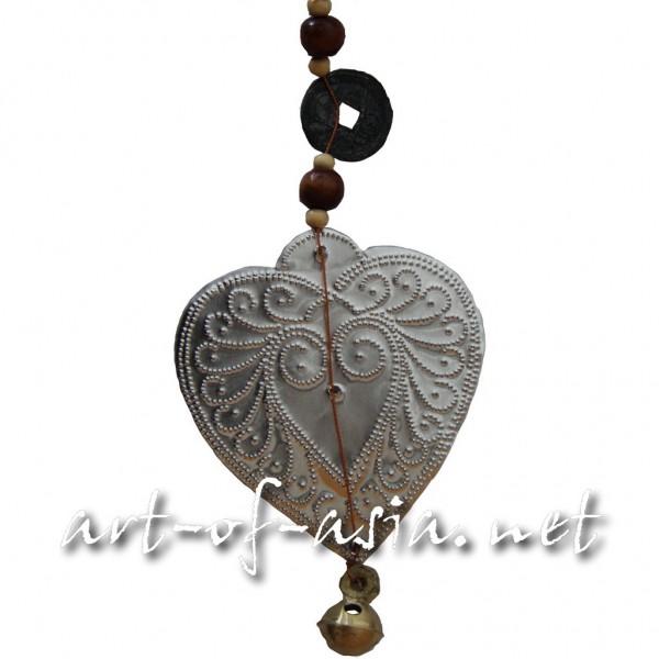 Bild 2 - Balifahnen-Anhänger Herz, silber