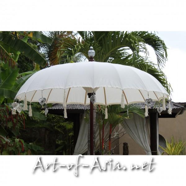 Bild 2 - Bali-Sonnenschirm, 180cm Ø, Natur (creme) / silber
