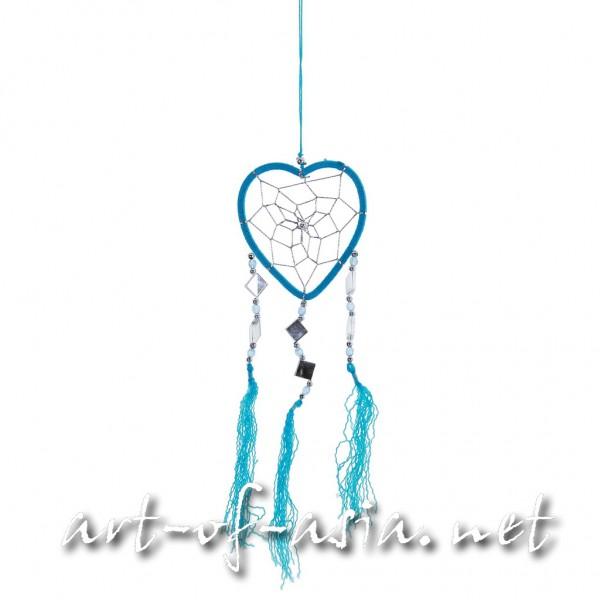 Bild 2 - Traumfänger, Herz, verschiedene Größen, Vivid Blue