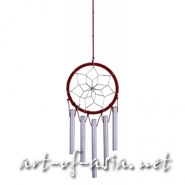 Bild 2 - Traumfänger, rund, Windspiel, verschiedene Größen, Deep Claret