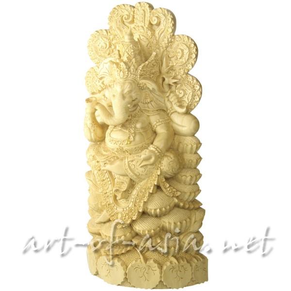 Bild 2 - Ganesha, sitzend, 040cm, Crocodile Wood