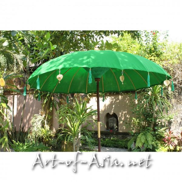 Bild 2 - Bali-Sonnenschirm, 220cm Ø, Vibrant Green / gold