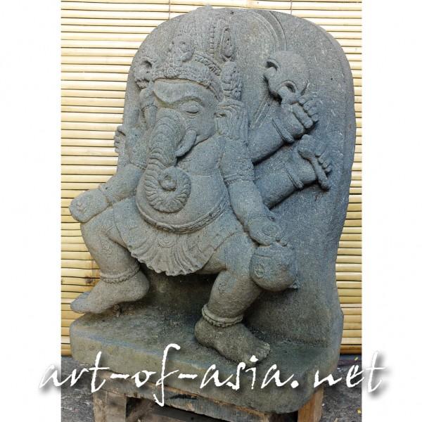 Bild 2 - Ganesha, tanzend, 050cm, Flußstein