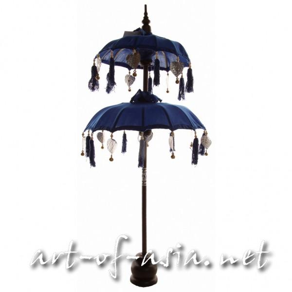 Bild 2 - Bali-Dekoschirm 2-fach, Dazzling Blue / silber