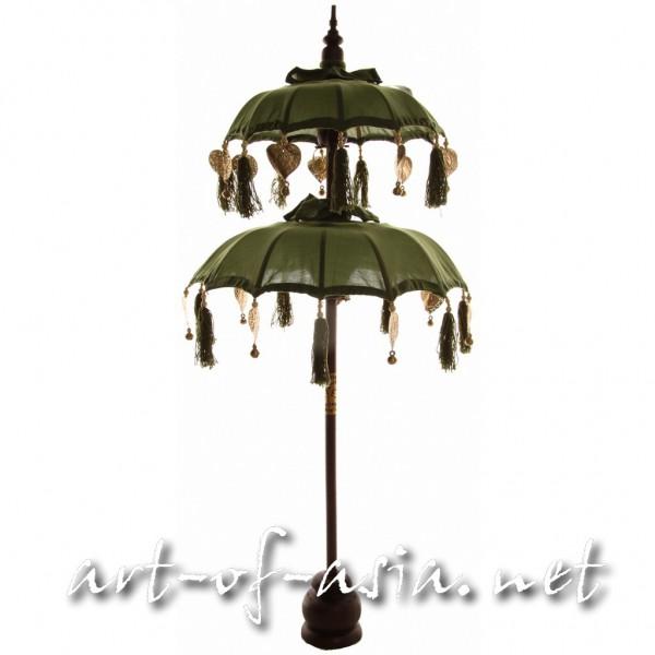 Bild 2 - Bali-Dekoschirm 2-fach, Moss / gold