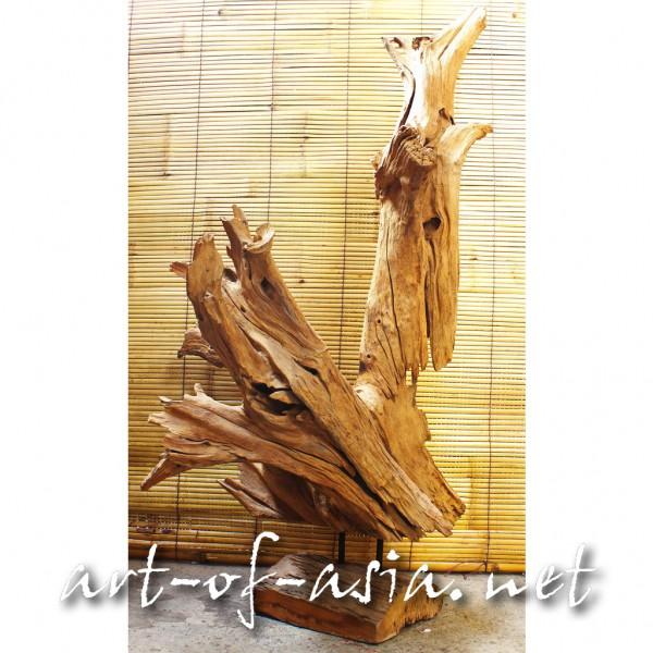 Bild 2 - Holzskulptur, 110cm, Wurzelholz, Teakholz