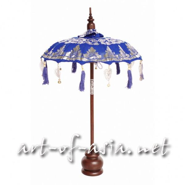 Bild 2 - Bali-Dekoschirm 1-fach, Dazzling Blue bemalt / silber