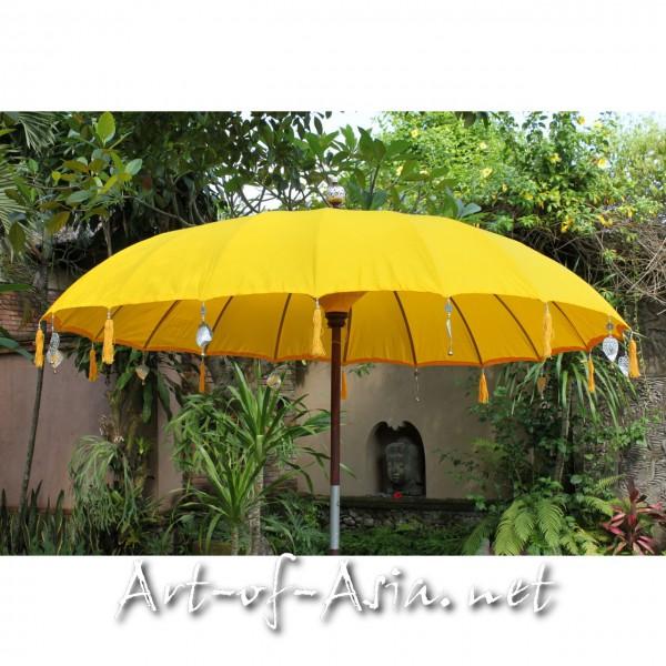 Bild 2 - Bali-Sonnenschirm, 220cm Ø, Saffron / silber
