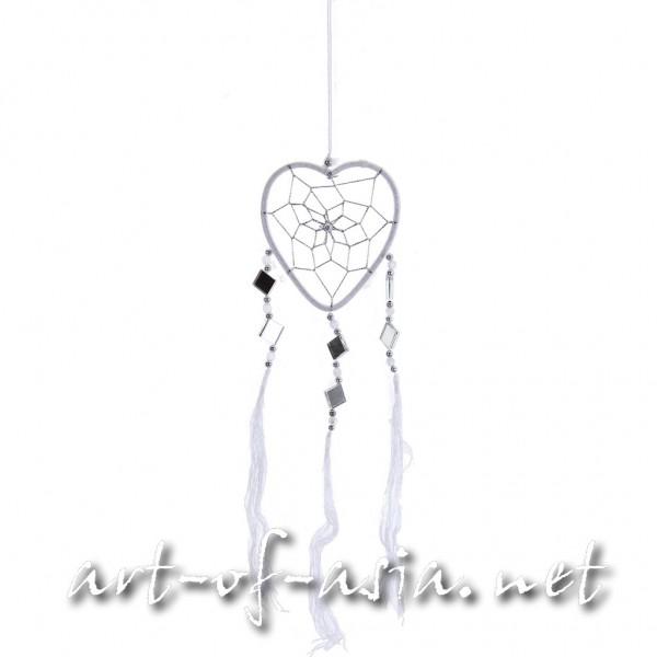 Bild 2 - Traumfänger, Herz, verschiedene Größen, Blanc de Blanc