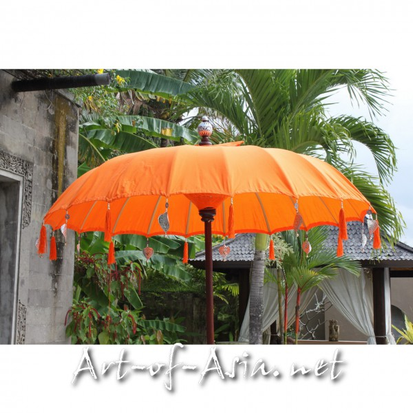 Bild 2 - Bali-Sonnenschirm, 180cm Ø, Flame / silber