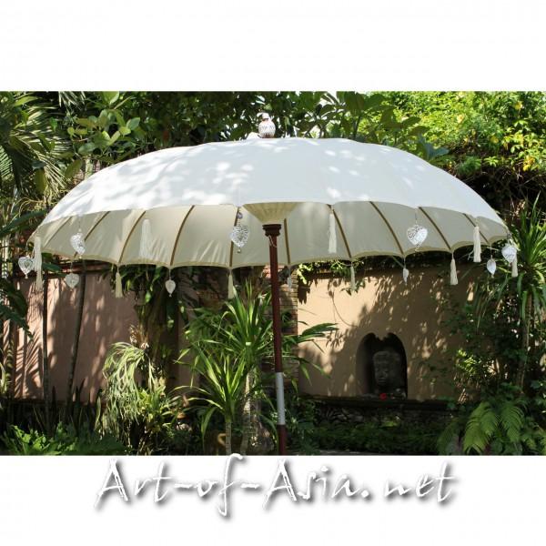 Bild 2 - Bali-Sonnenschirm, 220cm Ø, Natur (creme) / silber