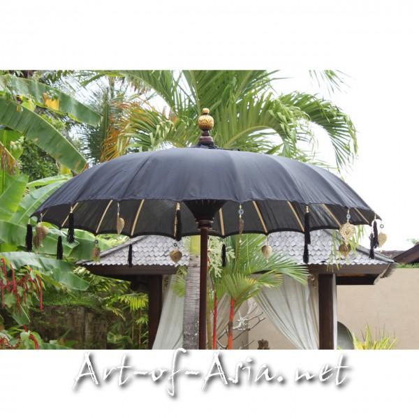 Bild 2 - Bali-Sonnenschirm, 180cm Ø, Black / silber