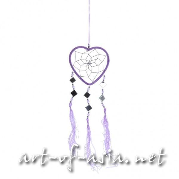 Bild 2 - Traumfänger, Herz, verschiedene Größen, Violet Tulip