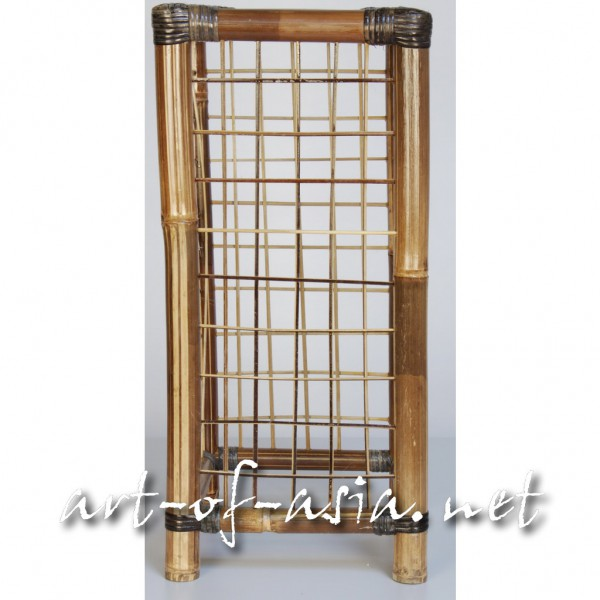 """Bild 2 - Säule Typ """"Gitter"""", 60cm, Bambus, dunkel"""