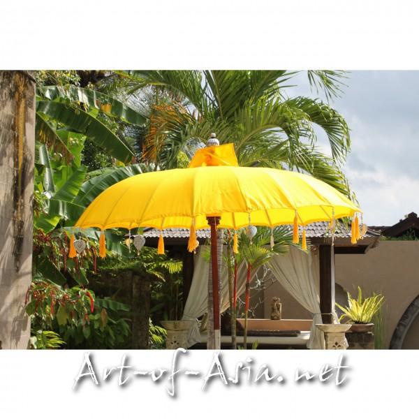 Bild 2 - Bali-Sonnenschirm, 180cm Ø, Saffron / silber