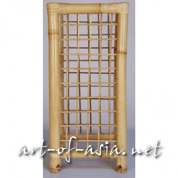 "Bild 2 - Säule Typ ""Gitter"", 60cm, Bambus, natur, breit"