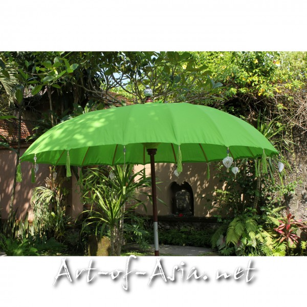 Bild 2 - Bali-Sonnenschirm, 220cm Ø, Bright Lime Green / gold