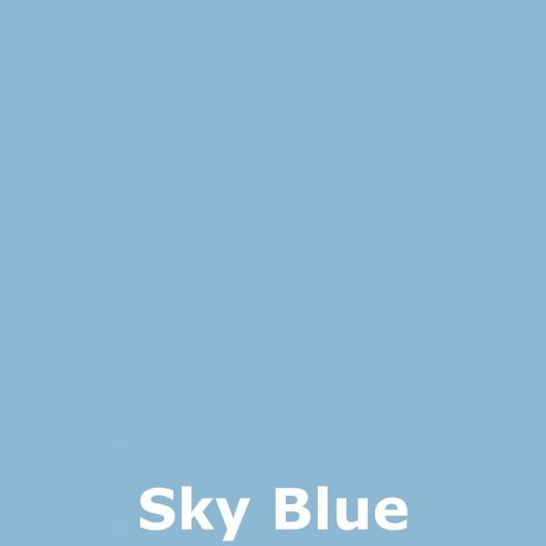 Bild 2 - Bali-Sonnenschirm, 120cm Ø, Sky Blue / silber