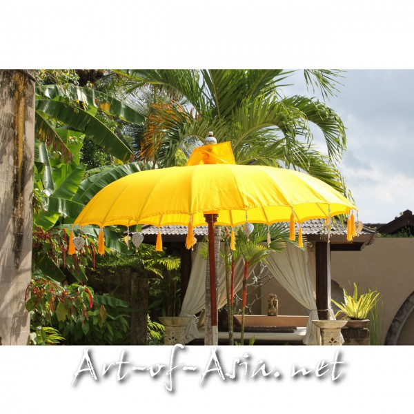 Bild 2 - Bali-Sonnenschirm, 180cm Ø, Saffron / gold