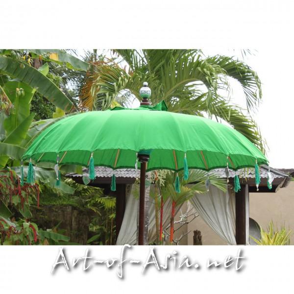 Bild 2 - Bali-Sonnenschirm, 180cm Ø, Vibrant Green / gold