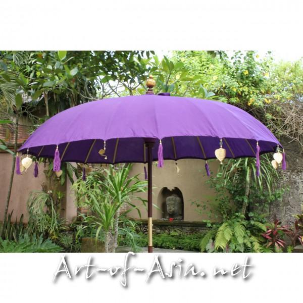 Bild 2 - Bali-Sonnenschirm, 220cm Ø, Royal Purple / gold