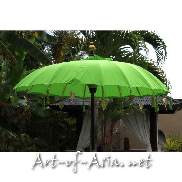 Bild 2 - Bali-Sonnenschirm, 180cm Ø, Bright Lime Green / gold