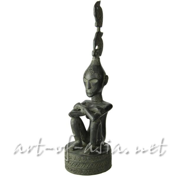 Bild 2 - Primitif-Figur, hockend, 050cm, Messing antik