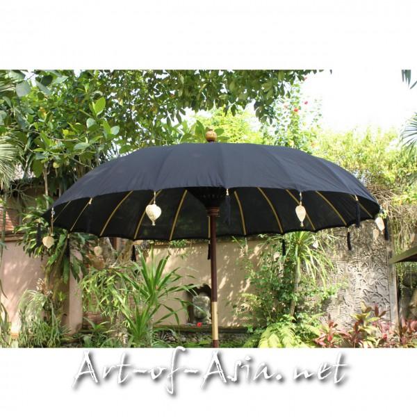 Bild 2 - Bali-Sonnenschirm, 220cm Ø, Black / silber