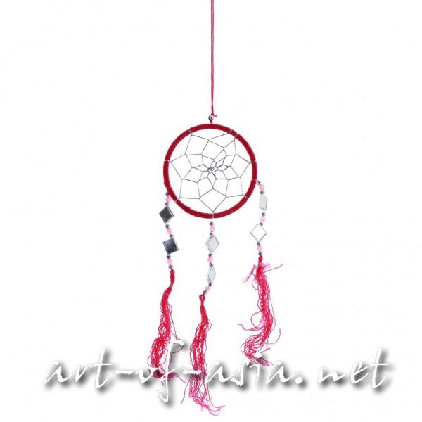 Bild 2 - Traumfänger, rund, verschiedene Größen, Rose Red