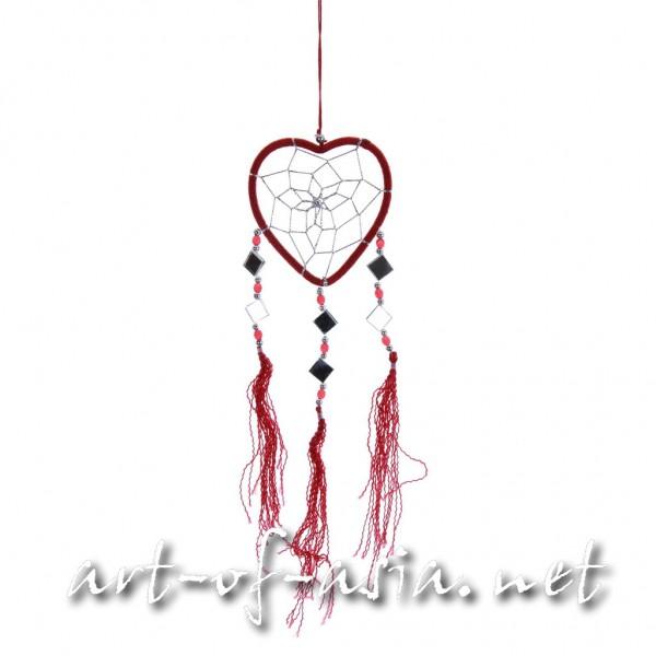 Bild 2 - Traumfänger, Herz, verschiedene Größen, Deep Claret
