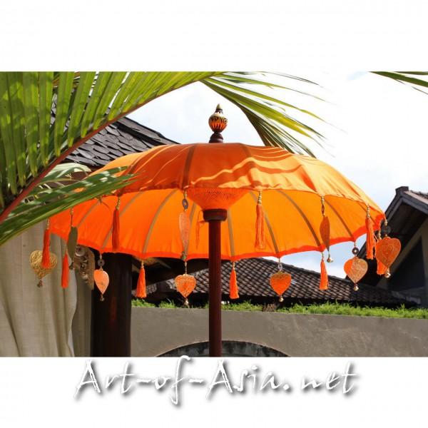 Bild 2 - Bali-Tempelschirm, 090cm Ø, Flame / gold