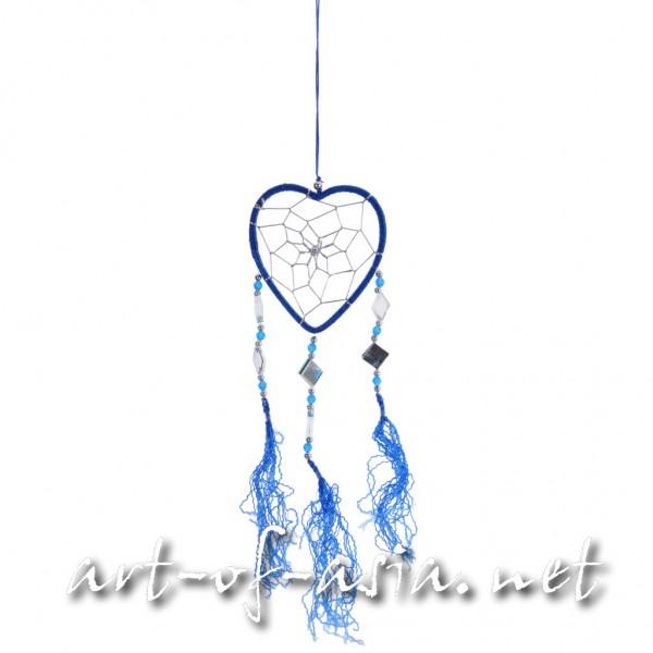 Bild 2 - Traumfänger, Herz, verschiedene Größen, Dazzling Blue