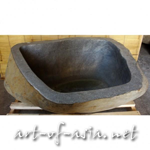Bild 2 - Becken, ca. 120 cm, Flußstein, grau