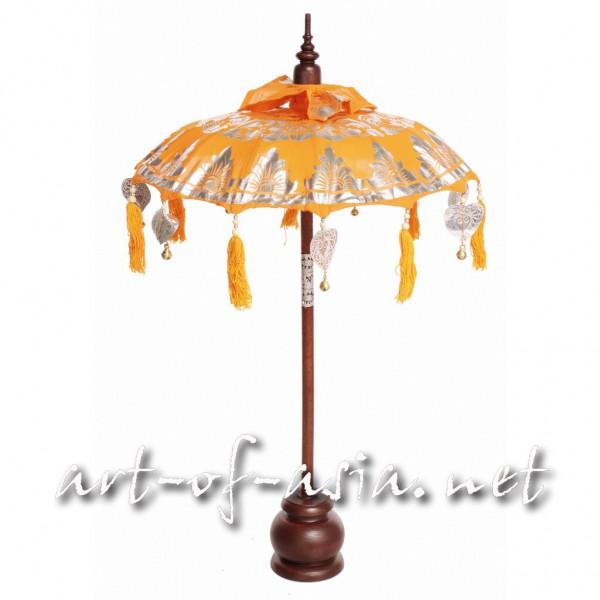 Bild 2 - Bali-Dekoschirm 1-fach, Flame bemalt / silber