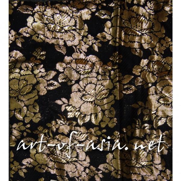 Bild 2 - Balifahne, Gartenfahne, Umbul-Umbul, Schwarz-Gold bestickt