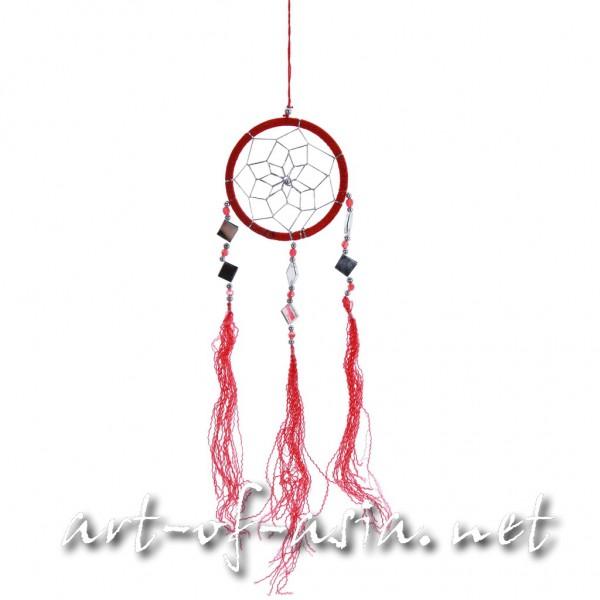 Bild 2 - Traumfänger, rund, verschiedene Größen, Chinese Red