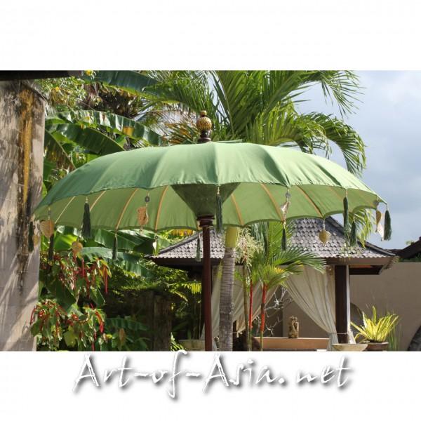 Bild 2 - Bali-Sonnenschirm, 180cm Ø, Moss / gold