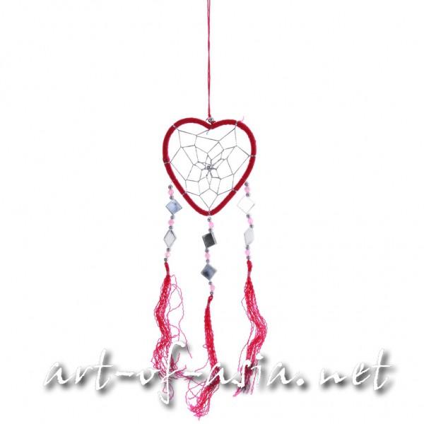 Bild 2 - Traumfänger, Herz, verschiedene Größen, Rose Red