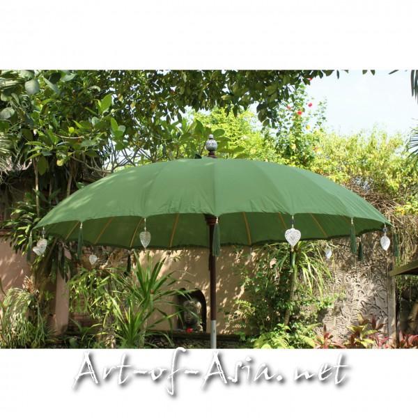 Bild 2 - Bali-Sonnenschirm, 220cm Ø, Moss / silber