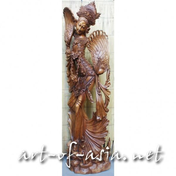 Bild 2 - Balinesische Tänzerin 'Tari Kipas', 180cm, Suar-Holz