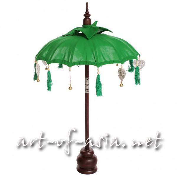 Bild 2 - Bali-Dekoschirm 1-fach, Vibrant Green / silber