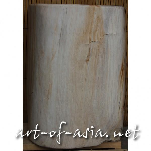 Bild 2 - Sockel, 050cm, versteinertes Holz, oval, wunderschöne Maserung, 73kg