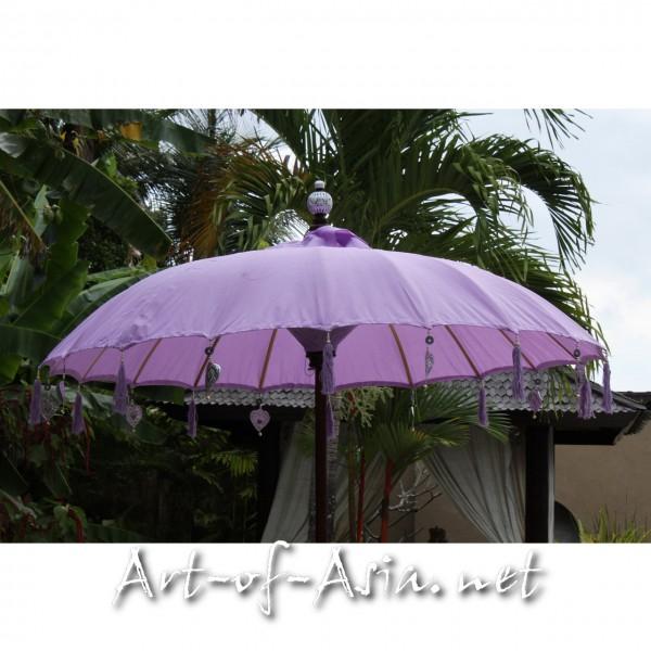 Bild 2 - Bali-Sonnenschirm, 180cm Ø, Violet Tulip / gold