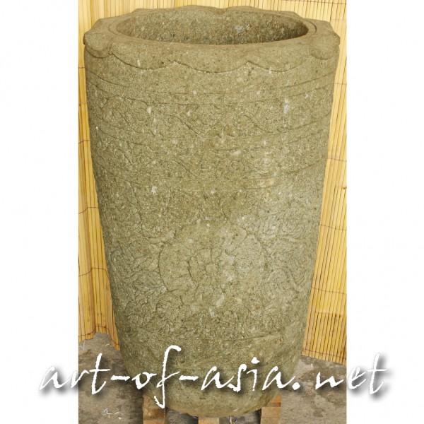 Bild 2 - Vase, 100cm, grüner Lavastein, sehr schöne Verzierung