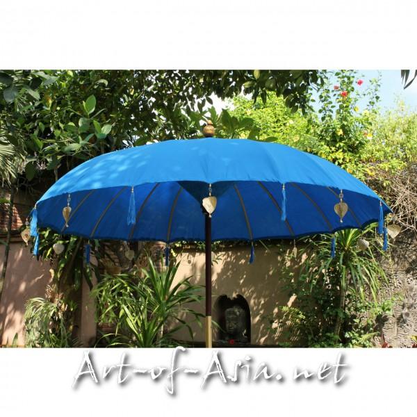 Bild 2 - Bali-Sonnenschirm, 220cm Ø, Azur Blue / silber