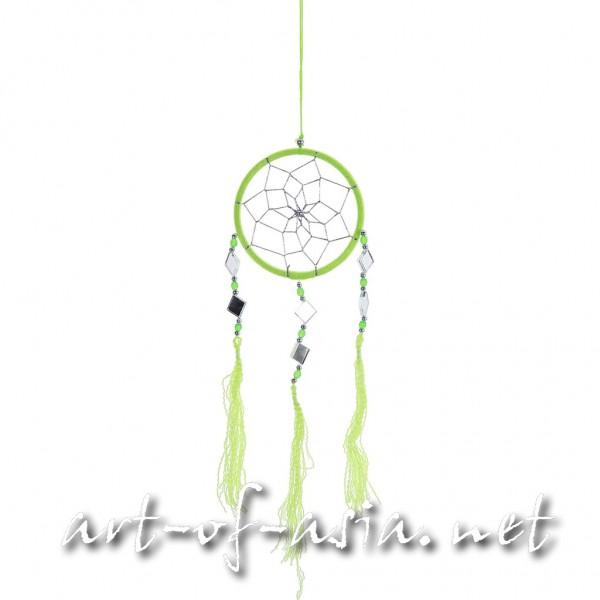 Bild 2 - Traumfänger, rund, verschiedene Größen, Bright Lime Green