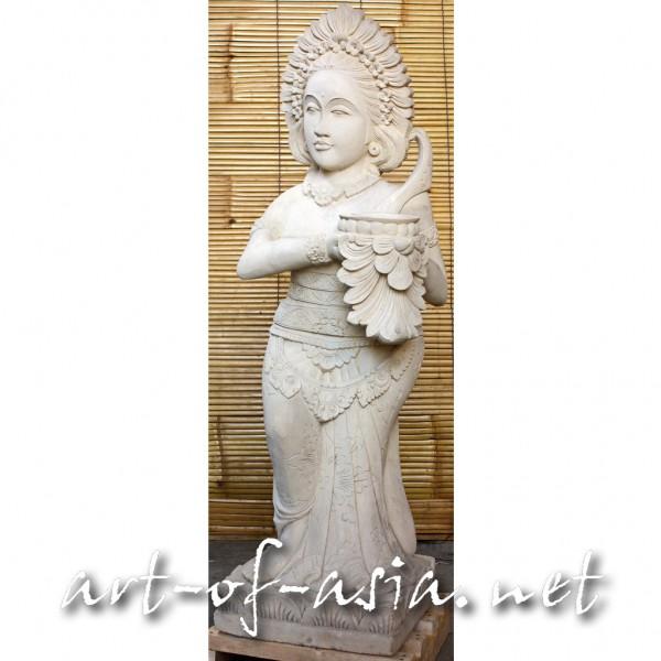 Bild 2 - Indonesiche Tänzerin, 100cm, Sandstein, mit Schale in der Hand